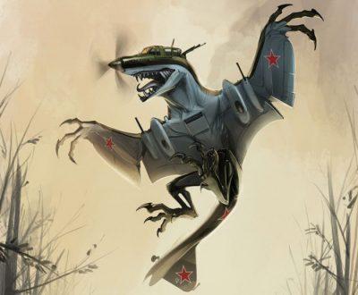 Этот рисунок «анимированного» Ил-2 дополняет серию Aerosaur.