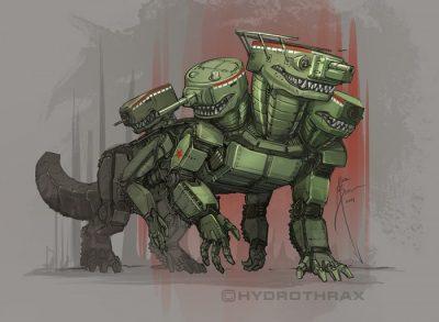 Брудерер рисует и сухопутных бронированных монстров — танки.