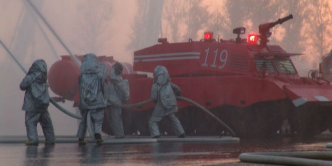 Пекинских пожарных вооружили ракетными установками