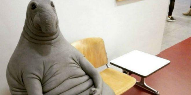 Автор петуха из навоза слепил скульптуру Ждуна
