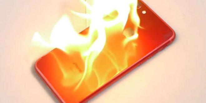 Видео: Новый красный iPhone 7 оказался огнеупорным