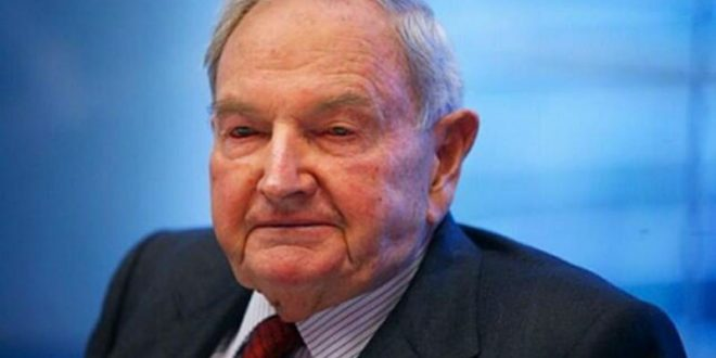 В США в возрасте 101 года скончался самый старый миллиардер в мире Дэвид Рокфеллер