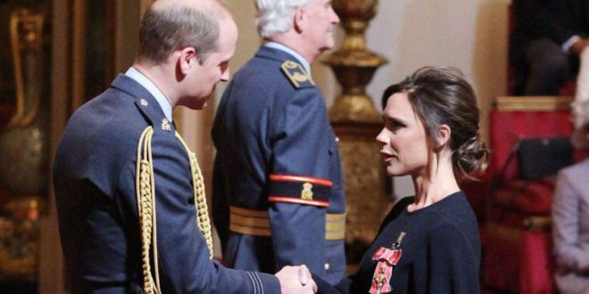 Виктория Бекхэм вслед за мужем Дэвидом была удостоен ордена Британской империи