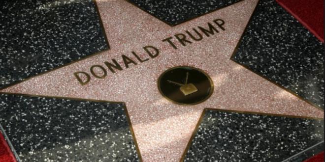 Неизвестные осквернили звезду Трампа на «Аллее славы», написав на ней ругательство