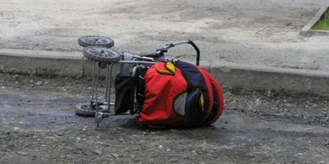 В Ижевске грузовик раздавил коляску с ребенком, оставленную на улице отцом, решившим зайти в бар