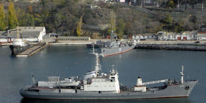 Российский разведывательный корабль «Лиман» затонул в Черном море после столкновения с торговым судном