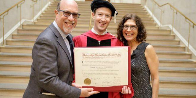 Цукерберг получил долгожданную ученую ступень спустя 12 лет после отчисления из Гарварда