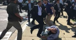 В Сети появилось видео с Эрдоганом, наблюдающим за дракой у резиденции турецкого посла в США