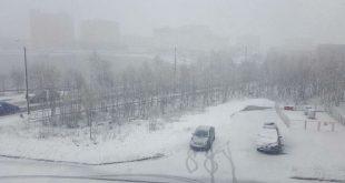 Мурманскую область засыпало июньским снегом