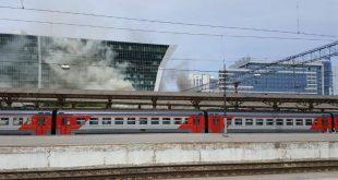 Жертвами пожара у Киевского вокзала в Москве стали два человека