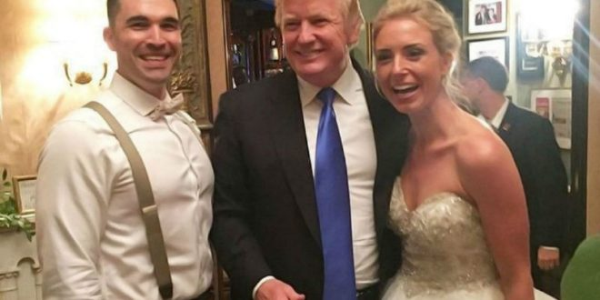 Трамп заглянул на свадьбу незнакомцев в своем гольф-клубе