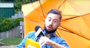 Ирландского ведущего прогноза погоды унесло ветром из кадра в прямом эфире