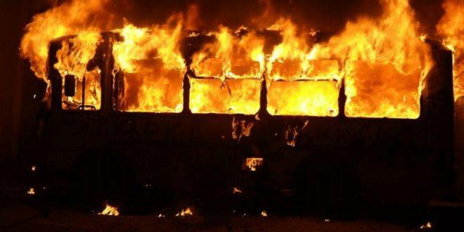 В Болгарии сгорел автобус, перевозивший российских туристов