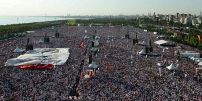 В Стамбуле 450-километровый «Марш справедливости» завершился многотысячным митингом оппозиции